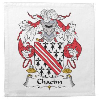 Escudo de la familia de Chacim Servilletas Imprimidas