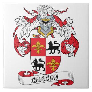 Escudo de la familia de Chacon Tejas Cerámicas