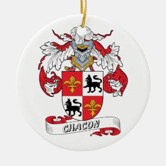 Escudo de la familia de Chacon Ornamento De Navidad