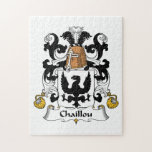 Escudo de la familia de Chaillou Rompecabezas Con Fotos