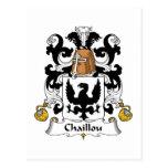 Escudo de la familia de Chaillou Tarjeta Postal