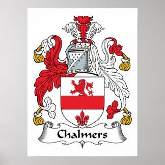 Escudo de la familia de Chalmers Impresiones