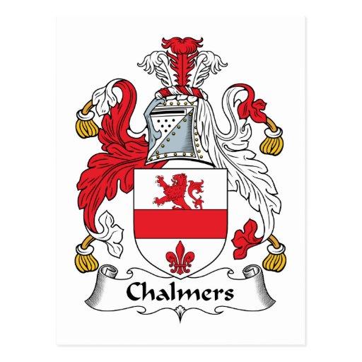 Escudo de la familia de Chalmers Tarjetas Postales