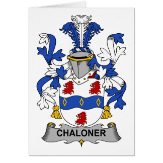 Escudo de la familia de Chaloner Felicitacion