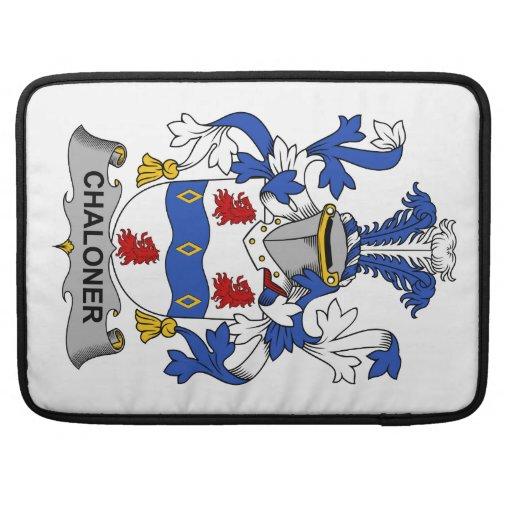 Escudo de la familia de Chaloner Funda Macbook Pro