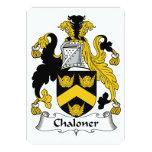Escudo de la familia de Chaloner Invitación 12,7 X 17,8 Cm