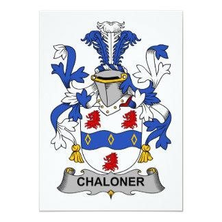 """Escudo de la familia de Chaloner Invitación 5"""" X 7"""""""