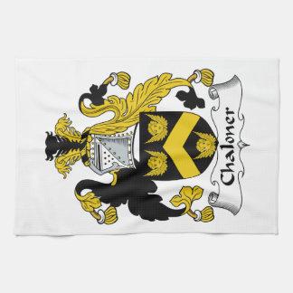 Escudo de la familia de Chaloner Toallas De Cocina