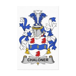 Escudo de la familia de Chaloner Impresión En Lienzo Estirada