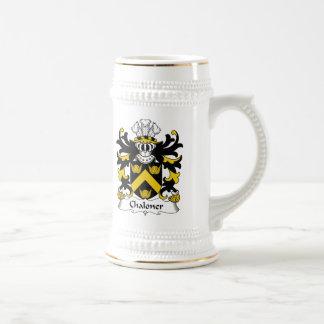 Escudo de la familia de Chaloner Tazas De Café