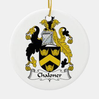 Escudo de la familia de Chaloner Ornaments Para Arbol De Navidad
