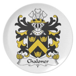 Escudo de la familia de Chaloner Plato