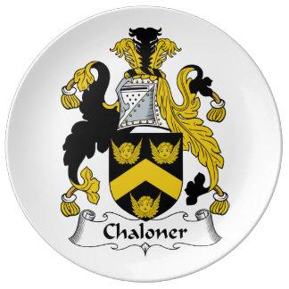 Escudo de la familia de Chaloner Platos De Cerámica