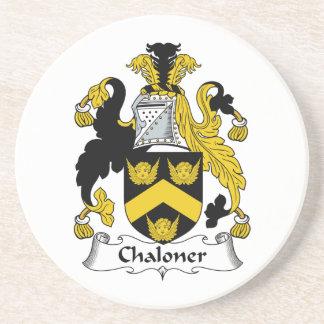 Escudo de la familia de Chaloner Posavaso Para Bebida