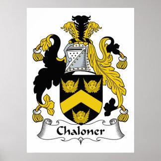 Escudo de la familia de Chaloner Impresiones