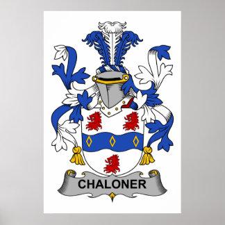 Escudo de la familia de Chaloner Poster