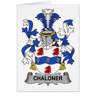 Escudo de la familia de Chaloner Tarjeta De Felicitación