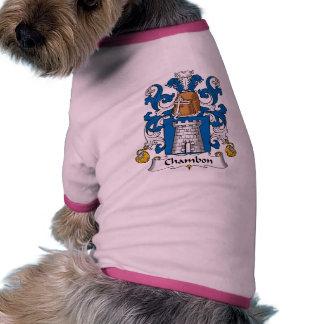 Escudo de la familia de Chambon Ropa De Perros