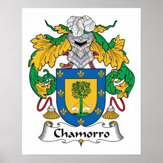 Escudo de la familia de Chamorro Posters