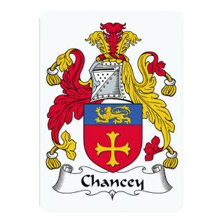 """Escudo de la familia de Chancey Invitación 5"""" X 7"""""""