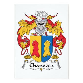 Escudo de la familia de Chanocca Invitacion Personalizada