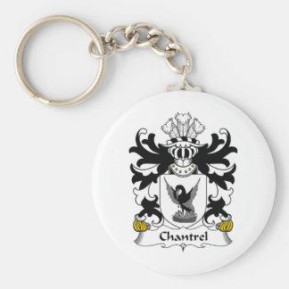Escudo de la familia de Chantrel Llavero Redondo Tipo Pin