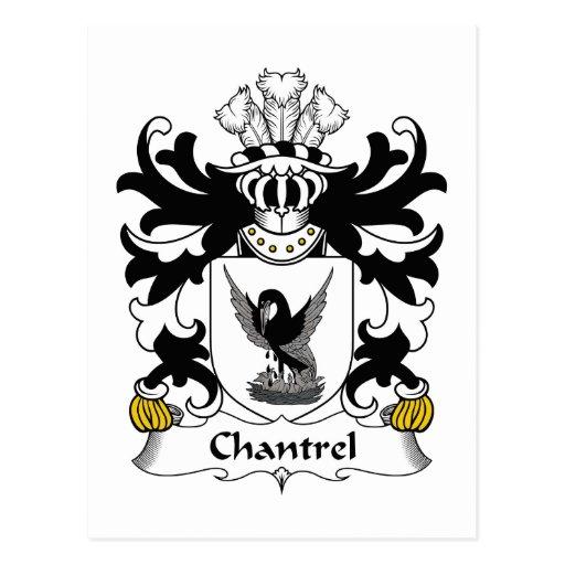Escudo de la familia de Chantrel Postales
