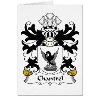 Escudo de la familia de Chantrel Tarjeta De Felicitación