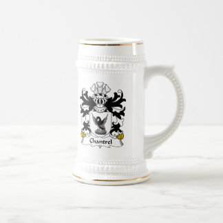 Escudo de la familia de Chantrel Jarra De Cerveza