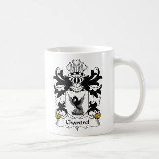 Escudo de la familia de Chantrel Taza Básica Blanca