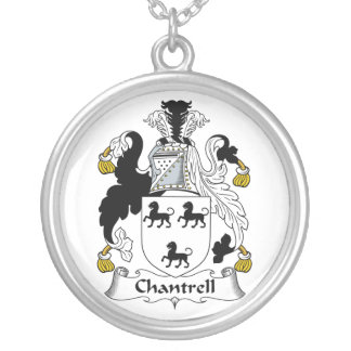 Escudo de la familia de Chantrell Colgante Redondo