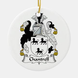 Escudo de la familia de Chantrell Adorno Redondo De Cerámica