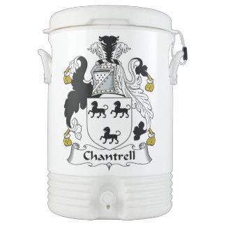 Escudo de la familia de Chantrell Enfriador De Bebida Igloo
