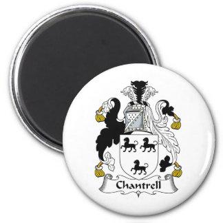 Escudo de la familia de Chantrell Imán Redondo 5 Cm
