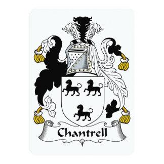 """Escudo de la familia de Chantrell Invitación 5"""" X 7"""""""