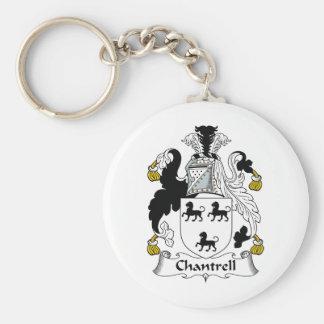 Escudo de la familia de Chantrell Llavero Redondo Tipo Pin