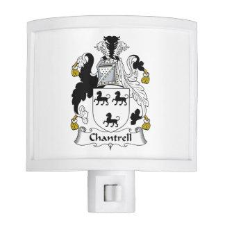 Escudo de la familia de Chantrell Lámparas De Noche