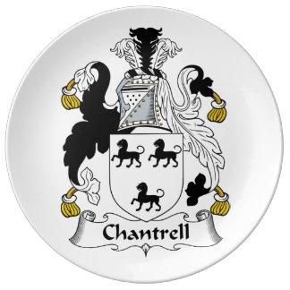 Escudo de la familia de Chantrell Plato De Cerámica