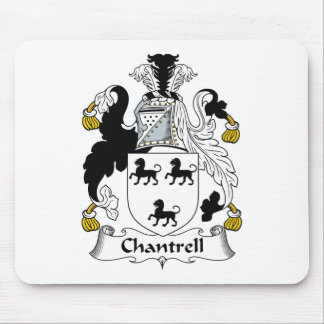 Escudo de la familia de Chantrell Tapetes De Ratones