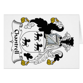 Escudo de la familia de Chantrell Tarjeta De Felicitación