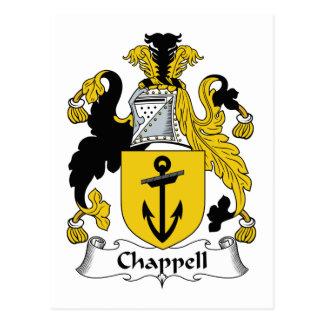 Escudo de la familia de Chappell Postal
