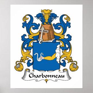 Escudo de la familia de Charbonneau Póster