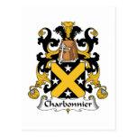 Escudo de la familia de Charbonnier Postal