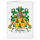 Escudo de la familia de Chardon Tarjeton