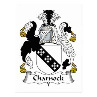 Escudo de la familia de Charnock Postal