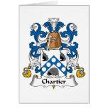 Escudo de la familia de Chartier Felicitacion