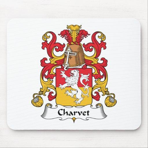 Escudo de la familia de Charvet Tapete De Ratones