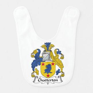 Escudo de la familia de Chatterton Baberos De Bebé