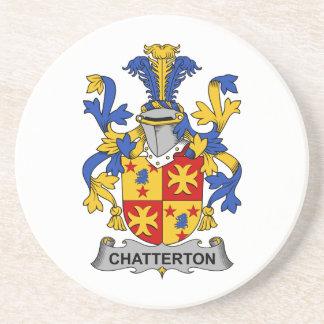 Escudo de la familia de Chatterton Posavasos Manualidades