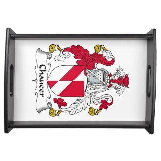 Escudo de la familia de Chaucer Bandejas
